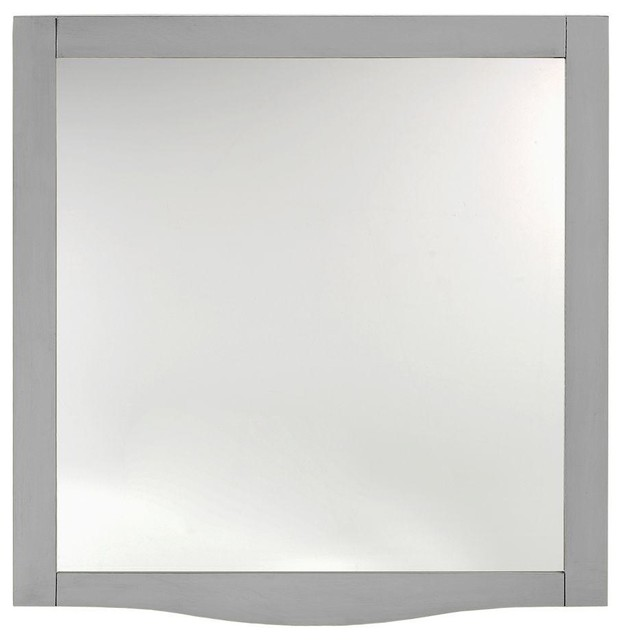 Home decorators collection mirrors savoy 32 in l x 30 in w mirror in antique contemporary Home decorators collection mirrors