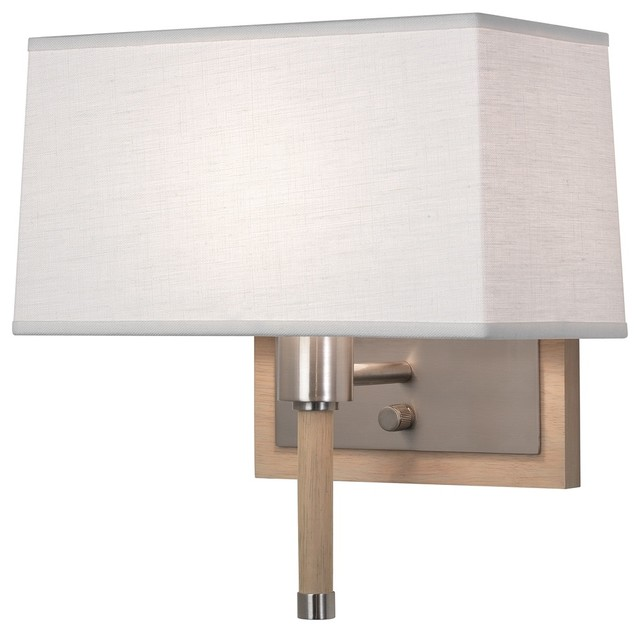 Coastal Robert Abbey Adaire Nickel Oyster Plug-In Wall Lamp - Contemporary - Wall Lighting - by ...