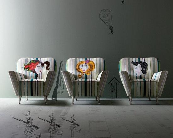 GIULIA armchair Creazioni - All furniture by Creazioni. GIULIA armchair with hand made fabrics from £2,250. Ships worldwide. Email ilive@imagine-living.com
