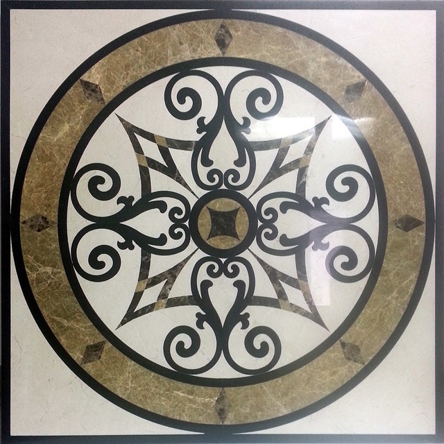 24 Square Marble And Granite Floor Medallion