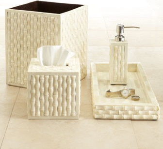 Bamboo Vanity Accessories contemporary bath and spa accessories