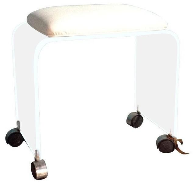 Used Vintage Lucite Vanity Stool modern-bathroom-stools