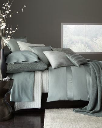 """Donna Karan Home Full/Queen Duvet Cover, 92"""" x 96"""" traditional-quilts-and-quilt-sets"""