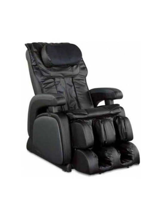 """Cozzia 16028 Full Body Heat Therapy Zero Gravity Massage Chair Recliner - Features:- One Touch Power Recline- Heat Therapy in the Lumbar- Fully customizable Roller Settings, Areas of Massage, and Speed of Massage- Simple to use LED Remote- Zero Gravity - Zero Gravity is best known for its relaxation benefits and abilities to put the body in a heightened state of comfort.- 6 Massage Styles - The 6 Massage Styles tailored around professional grade massage therapy. These include Shiatsu, Kneading, Tapping, Rolling, Vibration, and Air.- 22 Airbag Pressure System - The 22 Airbag Pressure System delivers therapy to the Back, Seat, Feet, Calves, and Neck. Heat therapy in the lumbar to warm tight muscles and increase relaxation.- 5 Pre-Programmed Sessions - There are Five Pre-programmed sessions that give the user a trouble free experience.- Customized Massage - The Massage can be customized focusing on certain areas, variations in Speed, and Roller width and intensity.- Automatic Timer - There is a convenient 15 minute auto timer and a simple easy to use LED remote.- Finish - This Cozzia massage chair is available in both a black or brown durable synthetic leather finish.- Dimensions - 45""""(H) x 28""""(W) x 54""""(OD)- Warranty - 1 Year Parts & Labor / 2 Year Parts Service Warranty 987c"""
