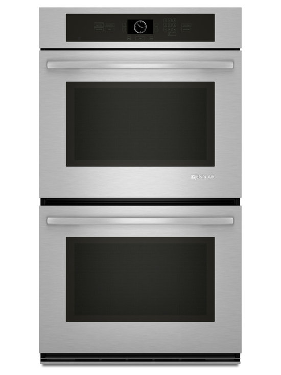 "Jenn-Air 30"" Double Electric Wall Oven, Stainless Steel With Black 