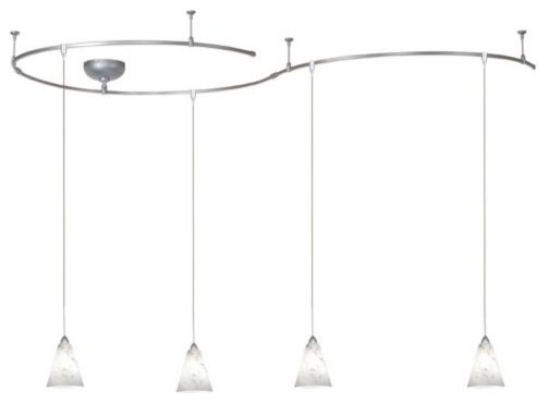 White Powder Frit Monorail Kit contemporary track lighting