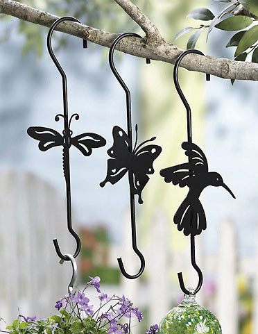 Die Cut Plant Hangers Garden Decor eclectic-outdoor-decor