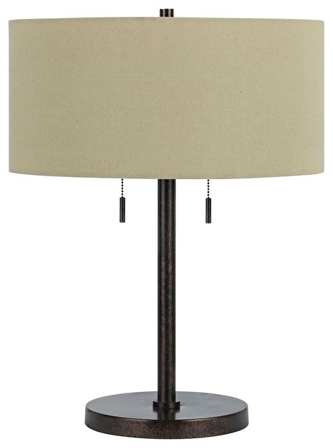 Contemporary Spiga Rust Table Lamp - Contemporary - Table Lamps - by Lamps Plus