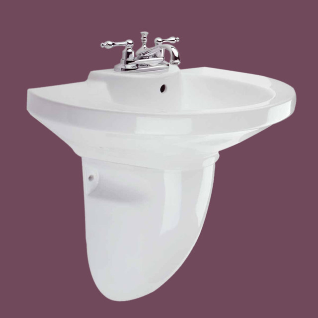 Pedestal Sinks White China Edinburgh Half Pedestal Sink 4 12783 Transitional Bathroom