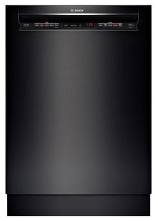 "Bosch 24"" Recessed Handle 500 Series Dishwasher, Black 
