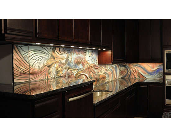 Kitchen Backsplash, custom ceramic tile -