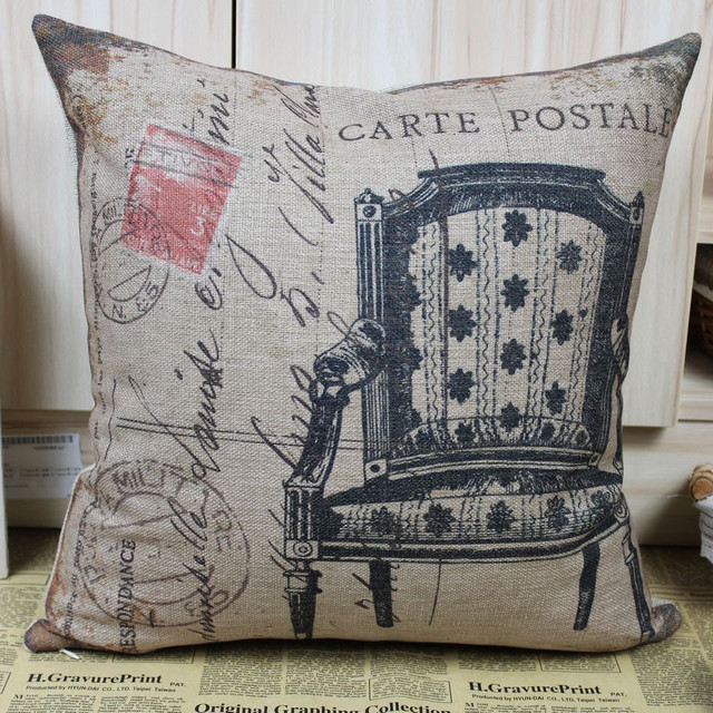 Shabby Chic Couch Pillows : 45cmx45cm Shabby Chic sofa chair Linen Pillow Cases Cushion Covers Vintage Style - Traditional ...