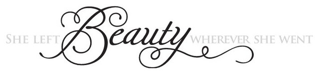 """""""She left beauty wherever she went"""" Decal modern-wall-decals"""
