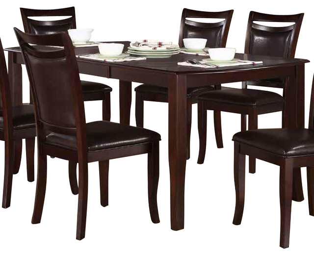 Maeve extension dining table in dark cherry traditional dining tables