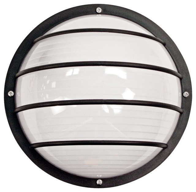 Black Outdoor Ceiling Or Wall Light Contemporary Outdoor Wall Lights ...
