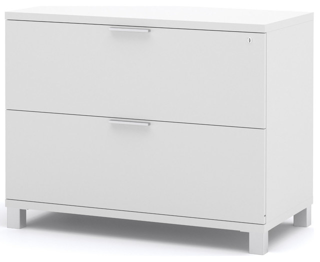Pro-Linea Assembled Lateral File in White - Modern - Filing Cabinets - by Modern Furniture Warehouse