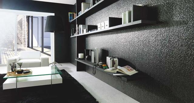 "CUBICA NEGRO 13""X40"" modern-living-room"