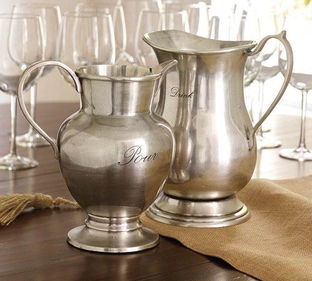 Pottery Barn Pitcher: Antique Silver Pitchers