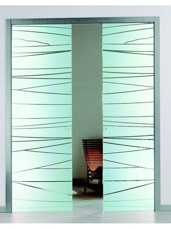 Etched Glass Pocket Sliding Door -
