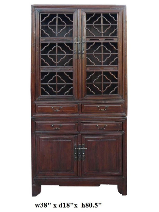 Vintage Chinese Stack Curio Kitchen Cabinet -