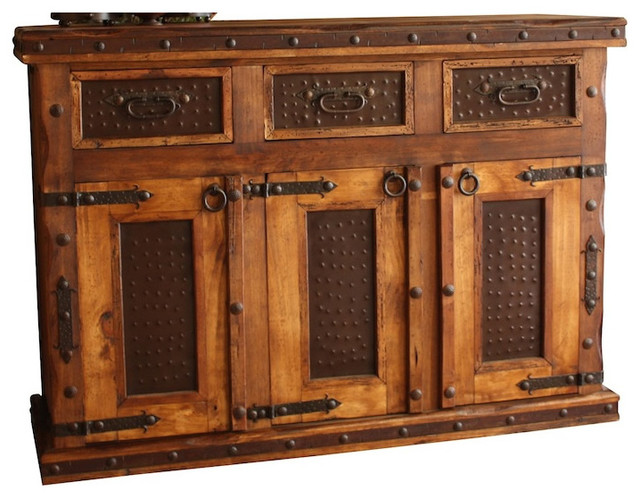 Hacienda Rustic Buffet - Rustic - Buffets And Sideboards - by Indeed Decor