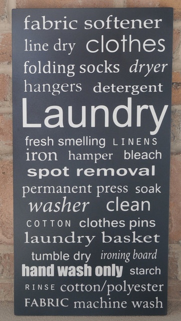 Laundry Subway Art Wood Sign Typography Word Art By Vinyl Crafts contemporary artwork