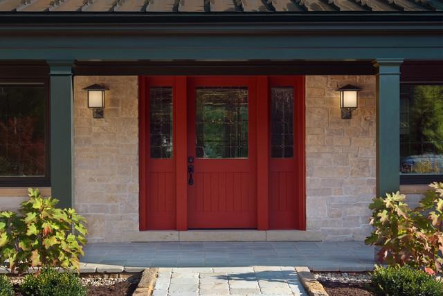 Mahogany Shaker Style Exterior Door Traditional Front
