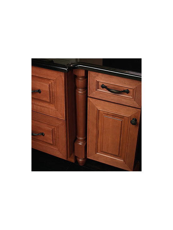 Federal Leg - Add the look of furniture with decorative molding accents, like this Federal leg style.