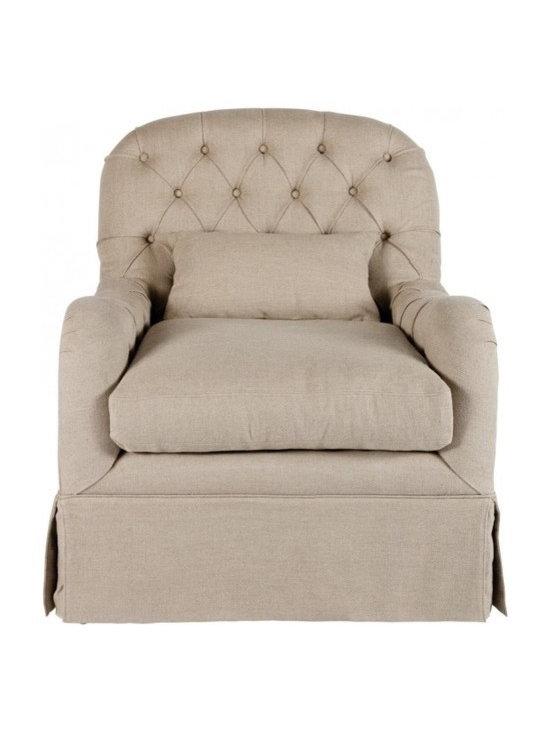 Shabby Chic Living - Aidan Gray Quinn Tufted Salon Chair.
