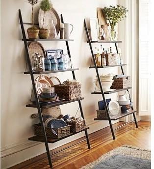 morgan metal u0026 wood leaning bookcase shelf traditional bookcases