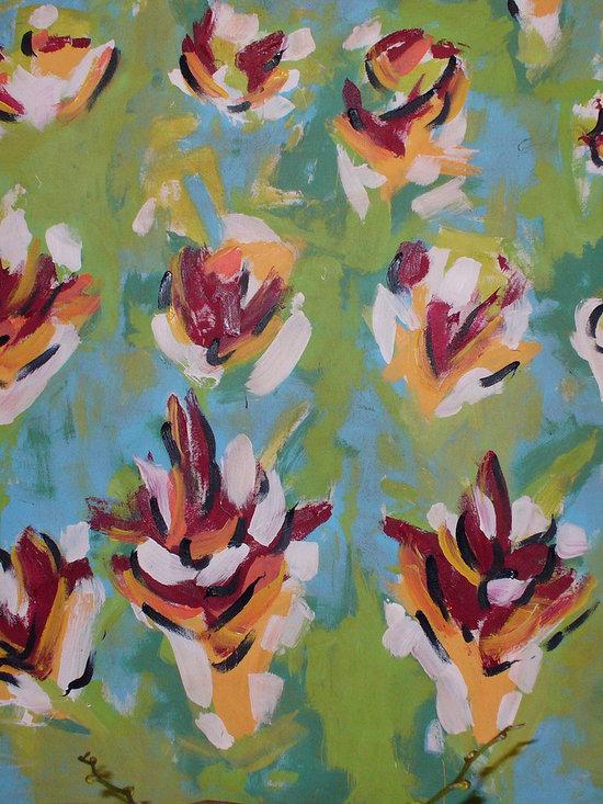 "Flower Garden (left panel) - Acrylic on canvas, 5' x 5'3"""