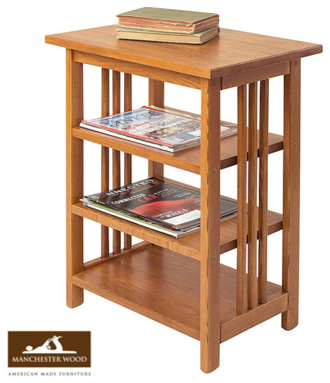 Mission 3-Shelf End Table by Manchester Wood - Traditional - Side Tables And End Tables - other ...