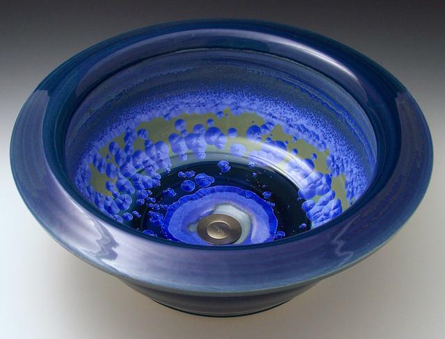 MODERN-sky crystal contemporary-bathroom-sinks