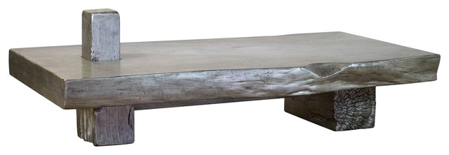Cadence Gray Live Edge Coffee Table industrial-coffee-tables