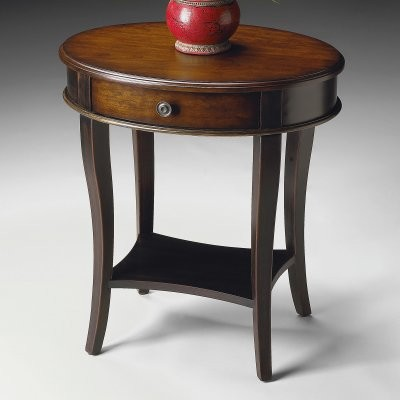 Butler Oval Accent Table - Cafe-noir modern-dining-tables