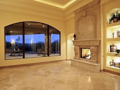 Custom Home in Scottsdale traditional-living-room