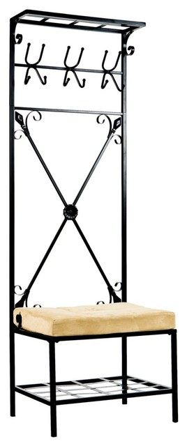 SEI Entryway Storage Rack Hall Tree - traditional - hall trees