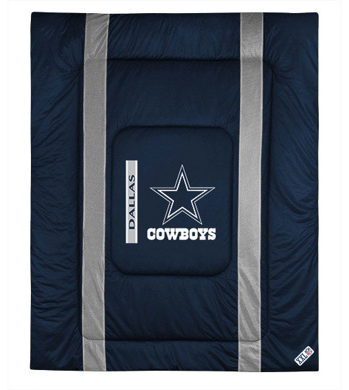 NFL Dallas Cowboys Queen Comforter Sidelines Football Bed