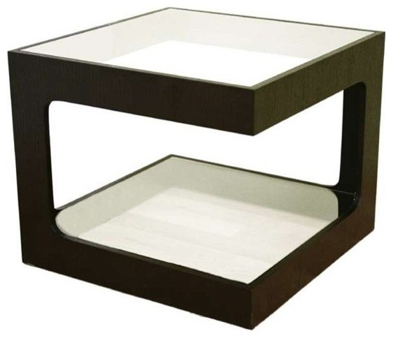 Wholesale Interiors Glass Top Side Table traditional-side-tables-and-end-tables