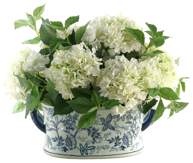 ... Chinese Porcelain Planter traditional-artificial-flower-arrangements