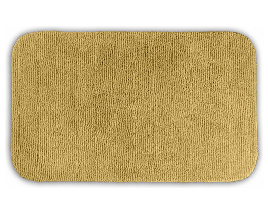 "Sands Rug - Cheltenham Linen Washable Runner Bath Rug (2' x 3'4"") - Add a layer of plush comfort and safety with the inviting Cheltenham bath and spa rug collection. Each piece, whether a bath runner, bath mat or contoured rug, is created from soft, durable, machine-washable nylon. Each floor piece is backed with skid-resistant latex for safety."