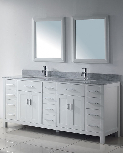 White Bathroom Vanities Bathroom Vanities And Sink Consoles Miami - White Bathroom Vanities