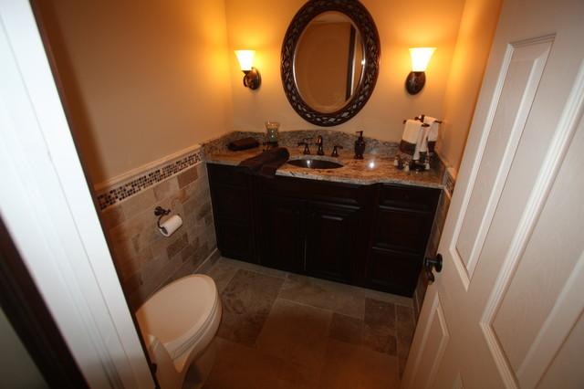 basement half bath traditional bathroom cleveland by