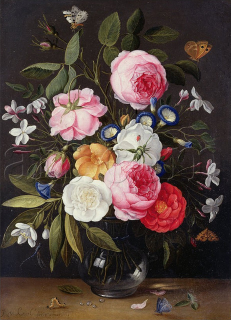 Still Life of Flowers in a Vase, 1661  artwork
