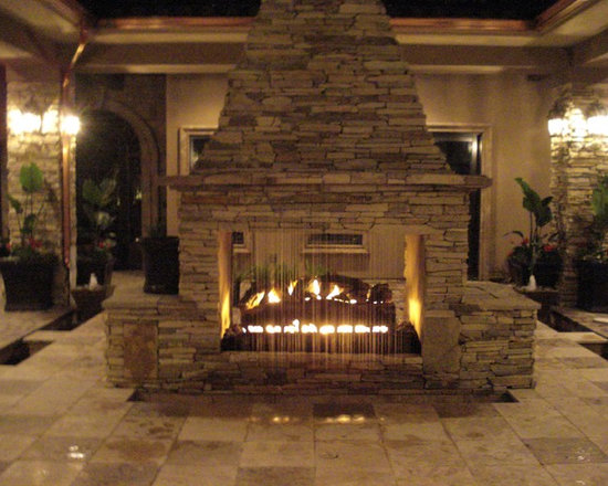 RainScapes - Rain Curtain in fire place