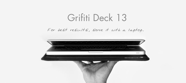 Grifiti Deck 13 Ultrathin Lap Desk serving up Apple MacBook modern desk accessories
