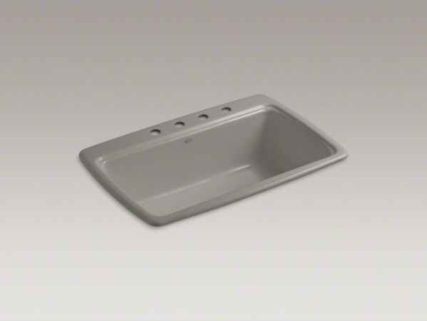 "KOHLER Cape Dory(R) 33"" x 22"" x 9-5/8"" top-mount single-bowl kitchen sink with 4 contemporary-kitchen-sinks"