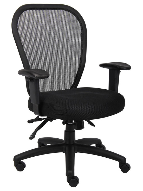 Black High Back Multi Function Mesh Office Task Chair - Black High Back Multi Function Mesh Office Task Chair with 3 Paddle Mechanism: Back angle lock allows the seat to lock throughout the angle range for perfect back support.