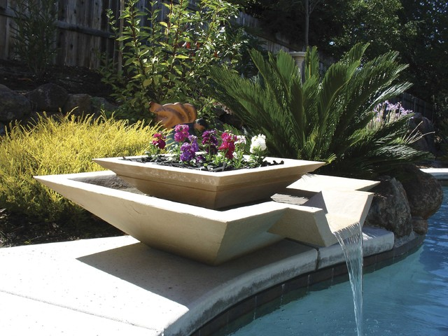 Contemporary Backyard Fountains : All Products  Outdoor  Outdoor Decor  Outdoor Fountains & Ponds