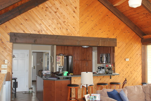 Paint knotty pine family room?